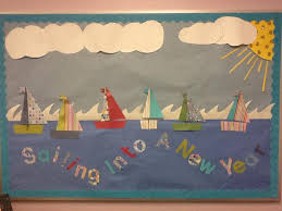 Door Decoration For New Year by Sailing Into A New Year Nautical Back To Bulletin Board