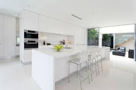 small white kitchen design ideas contemporary white shaker kitchen l shaped white gloss plywood