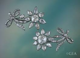 crowning floral spray two floral spray brooches with diamonds from 18th century russian