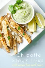 Main Dish With Sauce - chipotle steak fries with avocado lime ranch dipping sauce oh so