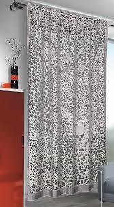 contemporary net curtain sheer panel leopard print design amazon