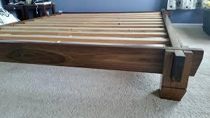 Asian Inspired Platform Beds - black walnut platform bed by subtleepsilon lumberjocks com