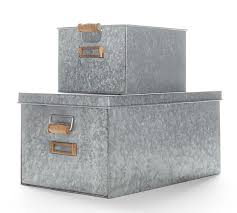 Pottery Barn Storage Bins Galvanized Utility Storage Pottery Barn