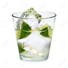 vodka tonic lemon vodka lime with ice in glass on white background including