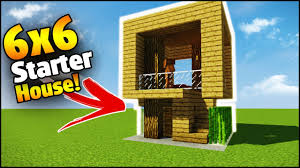 build a house minecraft 6x6 starter house tutorial how to build a house in
