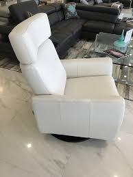 marianna white leather recliner u0026 glider modern accent chairs