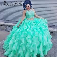 aliexpress com buy ball gown mint green quinceanera dresses for
