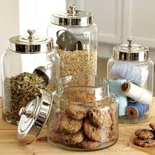 glass canisters kitchen glass canisters williams sonoma