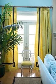 Yellow And Blue Curtains Yellow Curtains Contemporary Living Room Benjamin