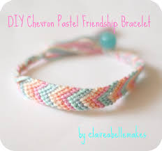 diy chevron pastel friendship bracelet friendship bracelets