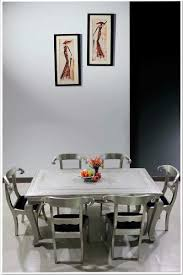 buy online embossed white metal dining set white metal dining