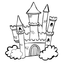 castle colouring pages princess castle