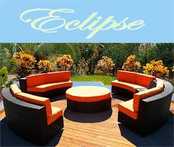 ECLIPSE MODERN ROUND SECTIONAL SOFA OUTDOOR WICKER PATIO FURNITURE - Outdoor sectional sofas