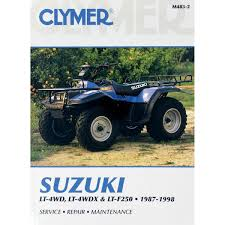 clymer repair manual suzuki lt 4wd 4wdx m483 2 manuals