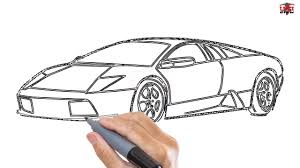 kid car drawing how to draw a lamborghini easy step by step drawing tutorials for