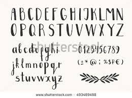 cursive lettering font letter template