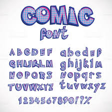 comics style alphabet collection set capital and small letters