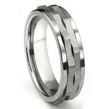 band ring tungsten carbide spinning wedding band ring
