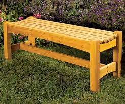free garden bench woodworking plan