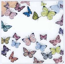 decoupage paper butterflies on white cocktail napkins u2013 chiarotino