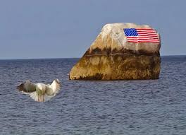 Horse With American Flag Joe U0027s Retirement Blog Flag Rock White Horse Beach Manomet