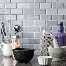 burlington gray 2x4 beveled marble tilebar com