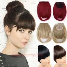 clip on bangs 100 hair extension clip in front hair bangs neat fringe