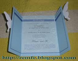 how to make wedding invitations my wedding invitation craft and fashion
