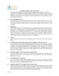 procurement general terms and conditions