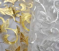 Shimmer Sheer Curtains Metallic Metallic Sheer 6 Yard Scarf Valance Gold U0026 Silver Sale