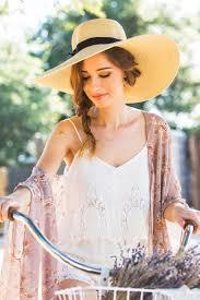 28 ways to wear a straw hat u2013 bike pretty