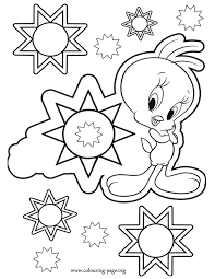 tweety tweety bird a future star coloring page