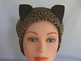 puuurrific cat ears womens lined surgical scrub cap scrub