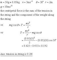 circular motion conical pendulum vertical circle kinetics
