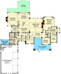 Side Garage Floor Plans 4 Bed Craftsman Dream Home Plan 14623rk Architectural Designs