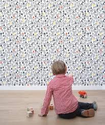 papier peint chambre bebe lé de papier peint intissé chambre d enfant et bébé cie