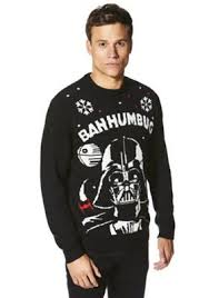 buy star wars darth vader sound and light up christmas jumper from