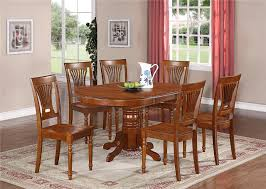 dining room elegant oval dining table and chairs with 6 parsons