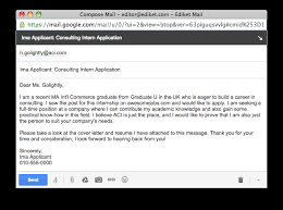 application emails how to get noticed from the first line