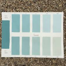 chalk paint coco custom color chart using pure white and old