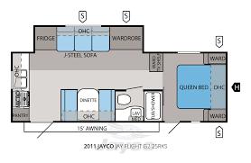 jayco travel trailers floor plans 2011 jayco jay flight g2 25rks travel trailer u2013 stock c00028