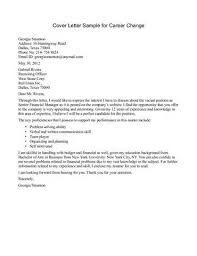 2016 cover letter for career change writing resume sample