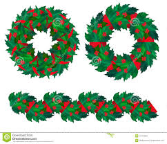 christmas holly garland royalty free stock image image 17457426