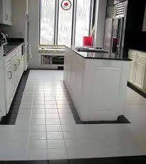 black and white ceramic tile floor