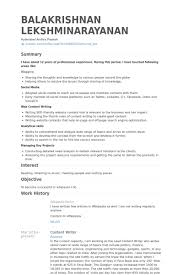 sle resume for freelance content writer freelance content writer usa