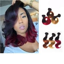 hairstyles for virgin hair amapro hair product 1pc ombre virgin hair short body wave hairstyles