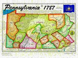 Pennsylvania Map by Original 13 States