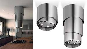 designer kitchen hoods retractable kitchen hood adding steel chic to contemporary kitchen