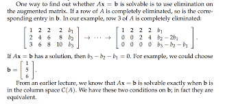 solvability condition of a linear equation mathematics stack