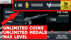 major gun 2 mod apk unlimited coins u0026 medals max level android